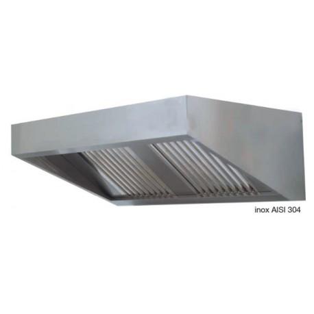 Cappa snack senza motore dim. cm. 260x70x45 - acciaio inox aisi 304
