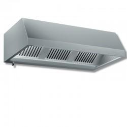 Cappa a parete senza motore dim. cm. 220x110x45 - acciaio inox aisi 304