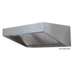 Cappa snack senza motore dim. cm. 120x110x45 - acciaio inox aisi 304