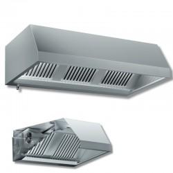 Cappa a parete con motore dim. cm.260x130x45 - acciaio inox aisi 304
