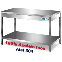 Tavolo Inox Professionale su Gambe SM 800x700x850