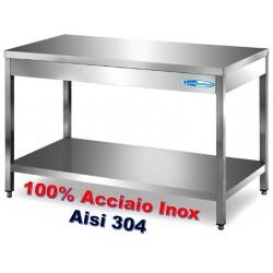 Tavolo Inox Professionale su Gambe SM 1000x700x850