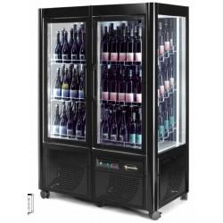 Cantinetta Espostiva con RUOTE per Vini refrigerazione Ventilata a doppia anta