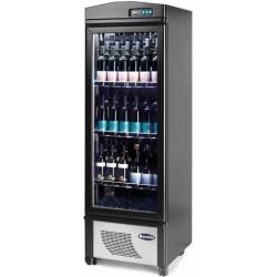 Cantinetta Espostiva in Legno con RUOTE per Vini refrigerazione Ventilata cap. 90 bottiglie