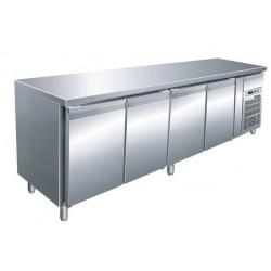 Tavolo refrigerato 4 porte temp. - 18° - 22° ventilato mm 2230x700x850