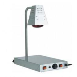 PIANO CALDO PCI4718 con una lampada ad infrarossi struttura inox