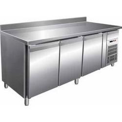 Tavolo refrigerato GN3200TN 3 porte - 2° + 8° con alzatina mm 1795x700x850