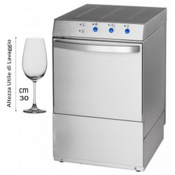 Lavabicchieri Professionale 40x40 Altezza Utile Bicchieri cm 30