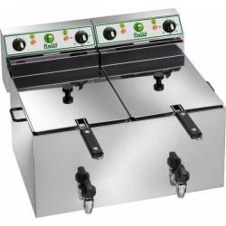 Friggitrice Professionale Elettrica FR88R 8+8 lt CON RUBINETTO