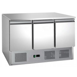 Tavolo refrigerato 3 porte con motore in basso mod 903 SS TOP