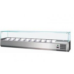 Vetrina con Vetri Refrigerata per Pizzeria mm 1500x330x400