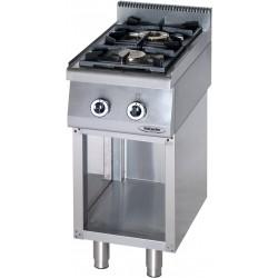 Cucina Professionale a Gas 2 Fuochi  Su Mobile KW 12  Dim cm 40x70x90h