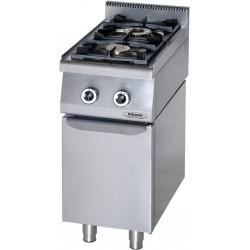 Cucina Professionale a Gas 2 Fuochi  Su Mobile Con Porta  KW 12 Dim cm 40x70x90h