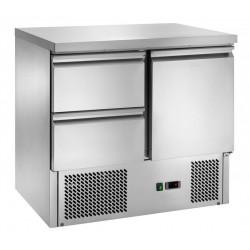 Tavolo refrigerato 1 porta con motore in basso mod. s901 + 2 cassetti
