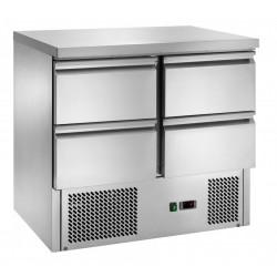 Tavolo Refrigerato  con Motore in Basso Mod.S901 + 4 Cassetti