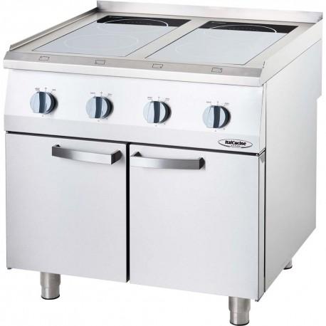 Mobili Cucina Professionale Acciaio.Cucina A Induzione 4 Zone Su Mobile Con Porta