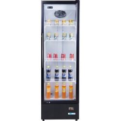 Vetrina Refrigerata Statica per Bibite porta Singola Vetro 278 Lt