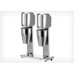 Frullatore frappè 2 Bicchieri INOX Lt 0,8+0,8
