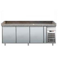 Banco pizza refrigerato 3 porte 60x40