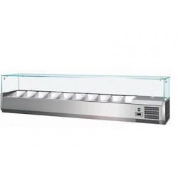 Vetrina con Vetri Refrigerata per Pizzeria mm 1400x380x400 GN 1/3