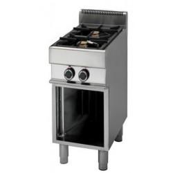 Cucina a Gas 2 fuochi Serie 70 cm 40x70x85/90 Professionale
