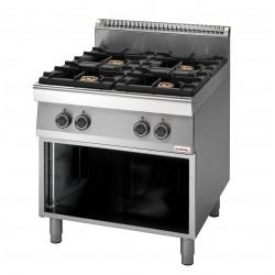 Cucina a Gas 4 fuochi Serie 70 cm 70x70x85/90 Professionale