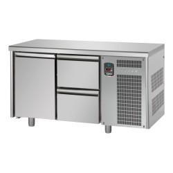 Tavolo refrigerato tn 1 porta + 2 cassetti linea master