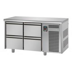 Tavolo refrigerato tn con 4 cassetti linea mid master