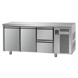 Tavolo refrigerato tn 2 porte + 2 cassetti linea mid master