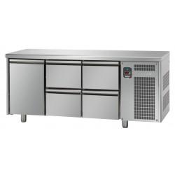 Tavolo refrigerato tn 1 porta + 4 cassetti linea mid master
