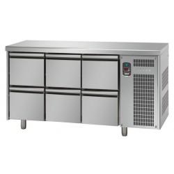 Tavolo refrigerato tn 6 cassetti linea mid master