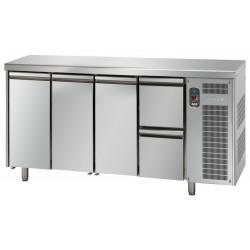 Tavolo refrigerato tn 3 porte +2 cassetti linea mid master
