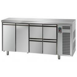 Tavolo refrigerato tn 2 porte + 4 cassetti linea mid master