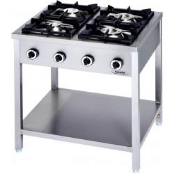 Cucina Professionale a Gas 4 Fuochi LINEA 90 KW 24,5 Dim. cm 90x90x90