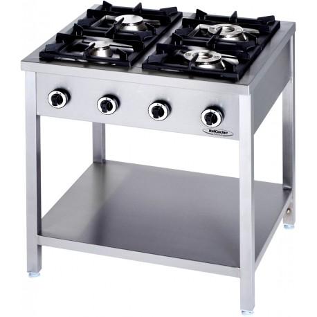 Cucine Professionali Usate Prezzi.Cucina Professionale A Gas 4 Fuochi Linea 90 Kw 24 5 Dim Cm 90x90x90