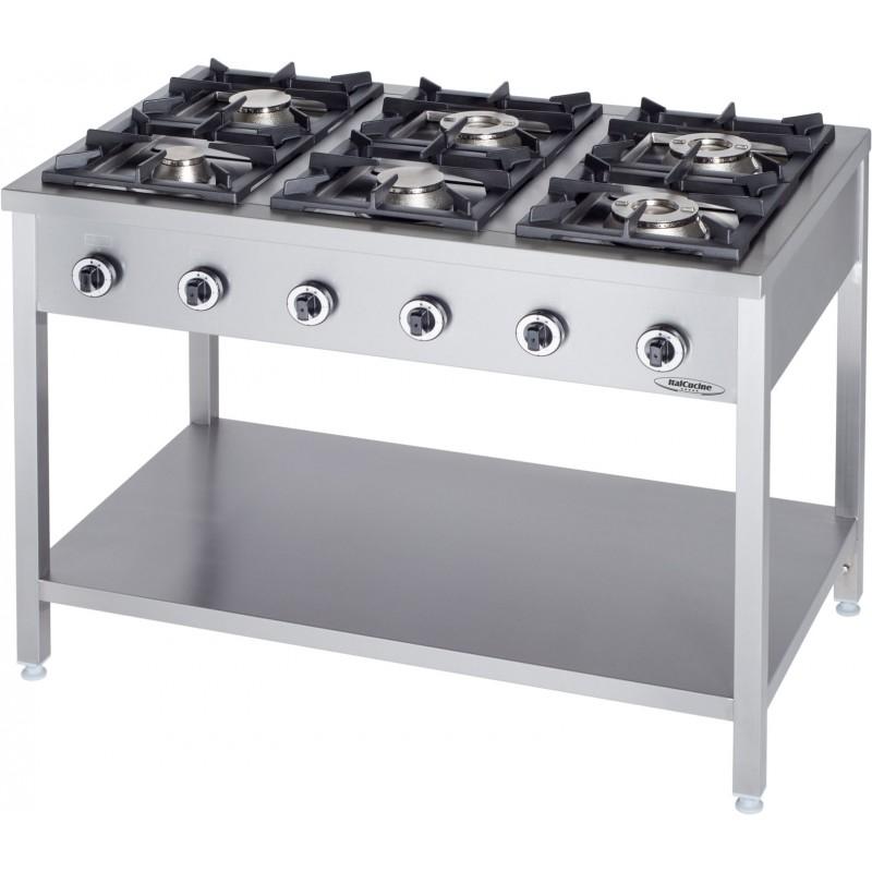 Cucine a gas attrezzature e forniture professionali per - Cucina gas 5 fuochi ...