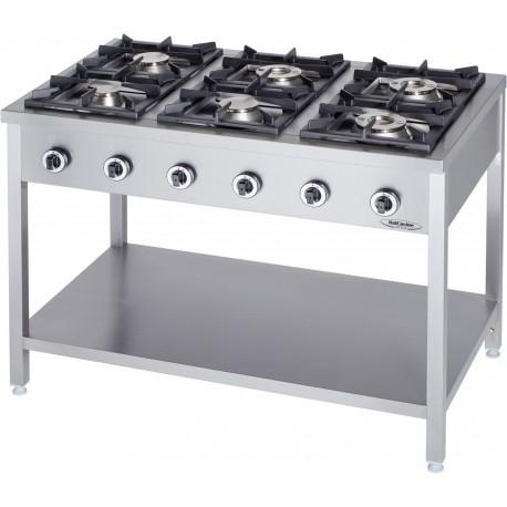 Cucine a gas attrezzature e forniture professionali per - Cucina 6 fuochi ...