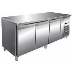 Tavolo refrigerato GN3100TN 3 porte - 2° + 8° ventilato mm 1795x700x850