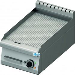Frytop Professionale Elettrico  da Banco PIASTRA RIGATA  Linea 70  Dim. 400x70x28