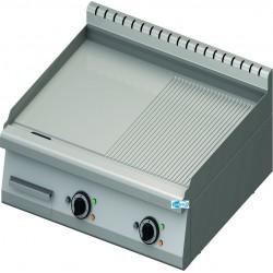 Frytop Professionale Elettrico da Banco PIASTRA 1/2 LISCIA e 1/2 RIGATA Linea 70 Dim. 800x70x28